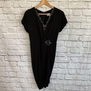 BADGLEY MISCHKA Sequin Embellished Black Dress
